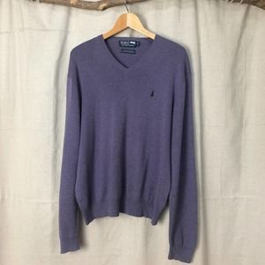 Polo by Ralph Lauren Pima Cotton V-neck Sweater
